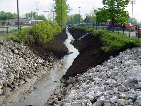 Toledo, Ohio - Ditch Stabilization - May 16, 2003